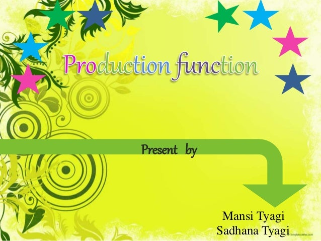 production function in economics pdf
