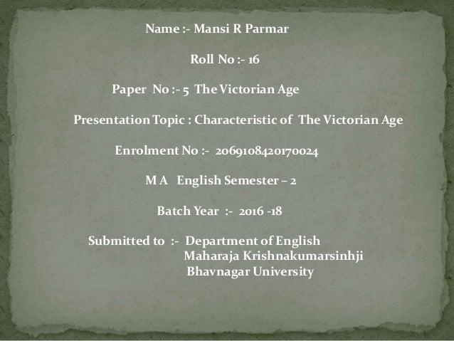 Victorian Era Essay   Bartleby