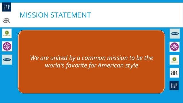 the gap inc mission statement