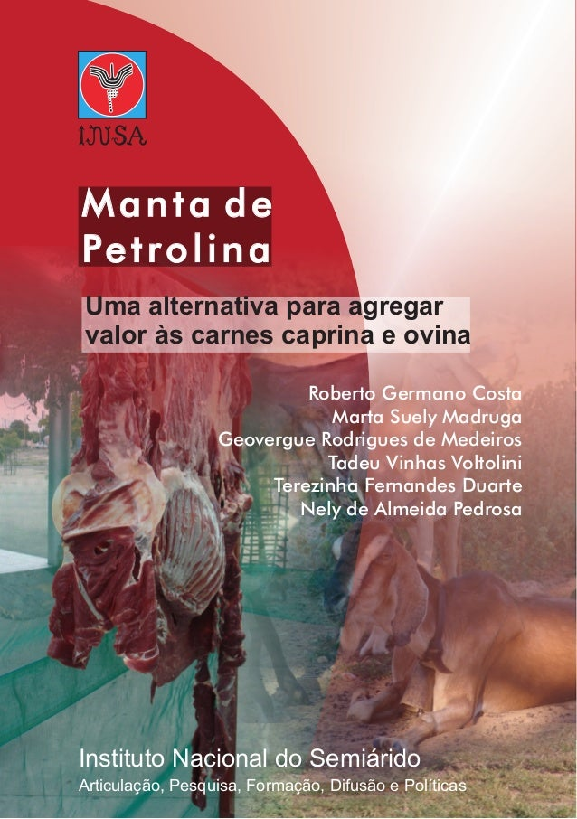 Manta de Petrolina Uma alternativa para agregar valor às carnes caprina e ovina Instituto Nacional do Semiárido Roberto Ge...