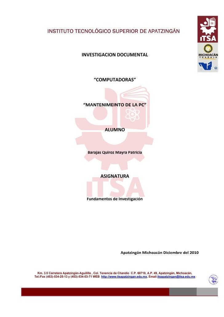 investigacion mantenimiento barajas
