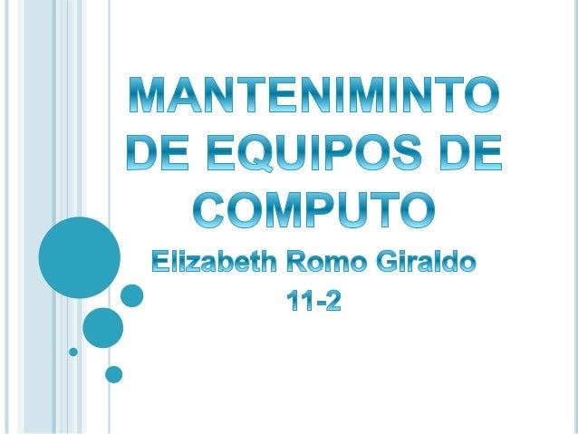 Se puede definir Mantenimiento del PC como una serie de rutinas periódicas que debemos realizar a la PC, necesarias para q...