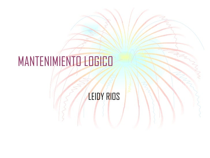 MANTENIMIENTO LOGICO LEIDY RIOS