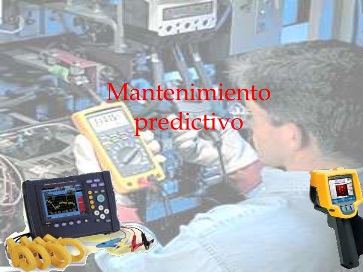 Mantenimiento predictivo<br />