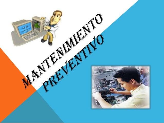  Es el destinado a la conservación de  equipos     o    instalaciones  mediante  realización de revisión y reparación que...