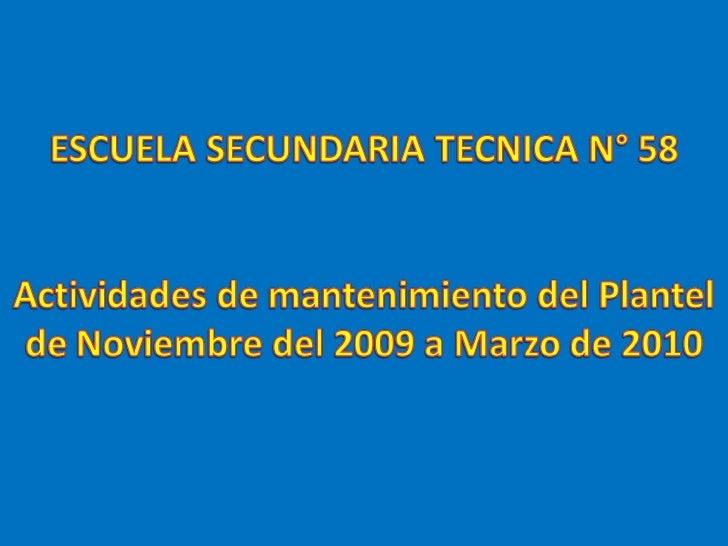 Mantenimiento Tec58 2010 Slide 1
