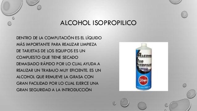 Mantenimiento y limpieza de una pc - Alcohol de limpieza para que sirve ...