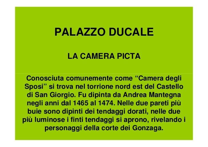 Mantova for La corte dei gonzaga mantegna