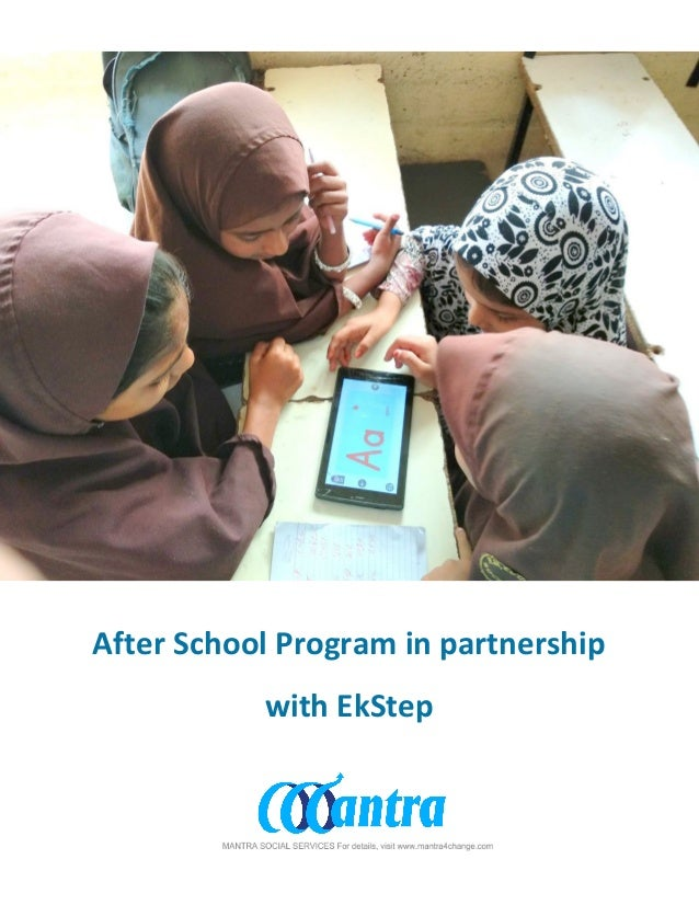 After School Program in partnership with EkStep
