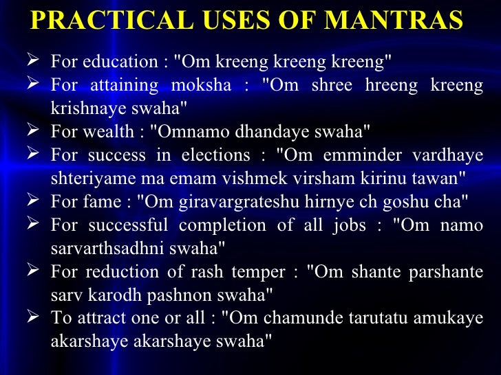 Mantra ppt