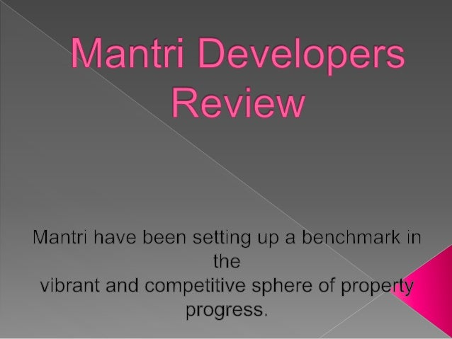 Mantri Centrium All happens here from work to leisure. From formations with legacies, Mantri provides the best amenities t...