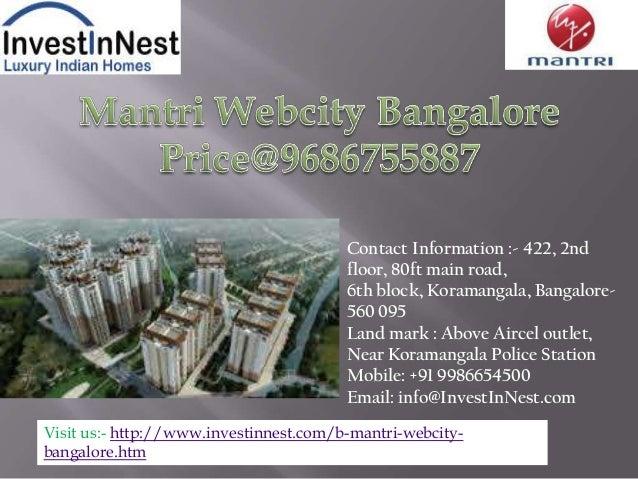 Contact Information :- 422, 2ndfloor, 80ft main road,6th block, Koramangala, Bangalore-560 095Land mark : Above Aircel out...