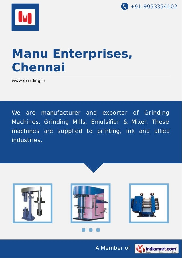 +91-9953354102  Manu Enterprises, Chennai www.grinding.in  We  are  manufacturer  and  exporter  of  Grinding  Machines, G...