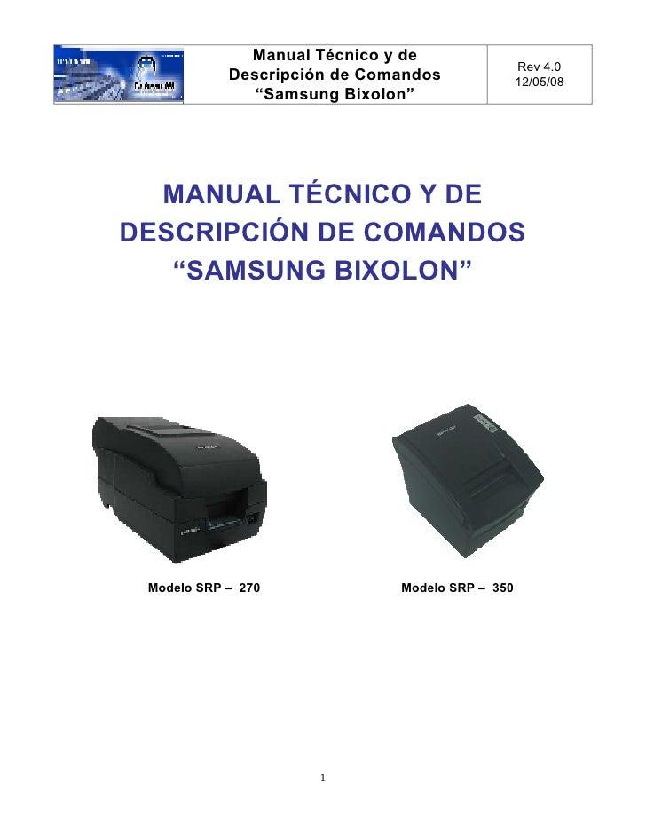 Manual Técnico y de                                                  Rev 4.0             Descripción de Comandos          ...