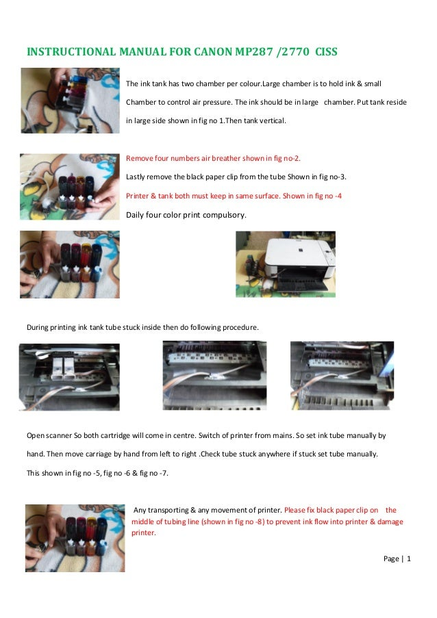manual rh slideshare net Canon MF4570dn Toner Canon MP287 Specification