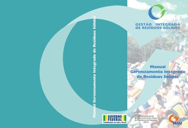 ManualGerenciamento Integrado  de Resíduos Sólidos
