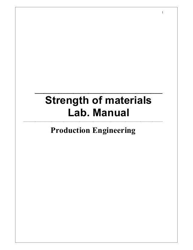 1       ___________________________________________              Strengthofmaterials                  Lab.Manual___...