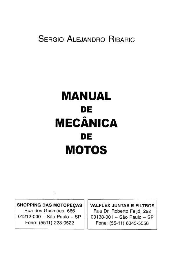 MANUAL DE MECANICA DE MOTOS PT BR PDF DOWNLOAD