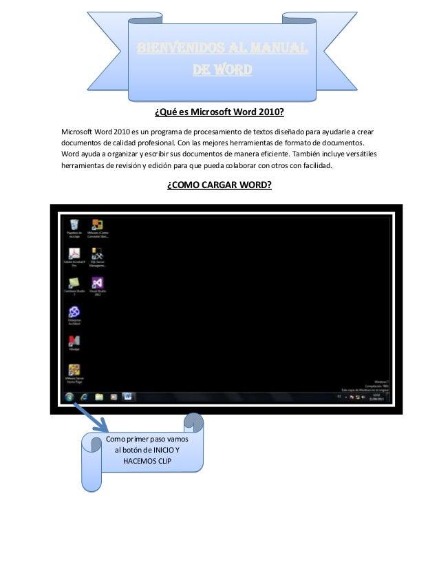 ¿Qué es Microsoft Word 2010? Microsoft Word 2010 es un programa de procesamiento de textos diseñado para ayudarle a crear ...