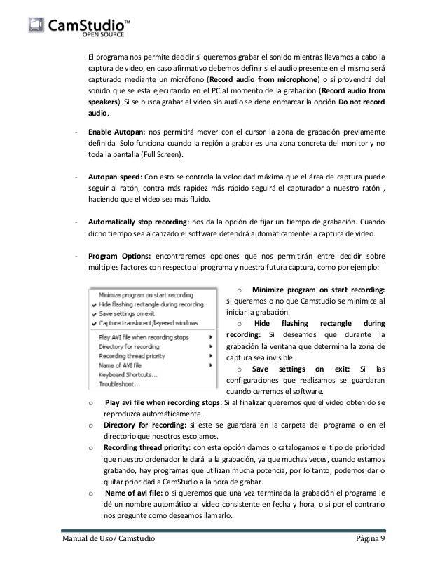 Manual CamStudio v 2.7