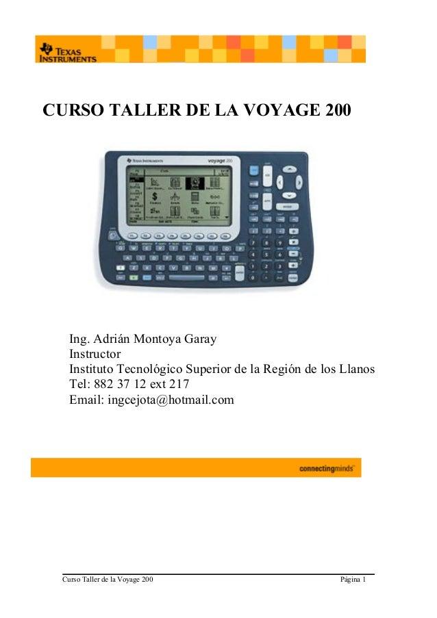 CALCULADORA VOYAGE Manual