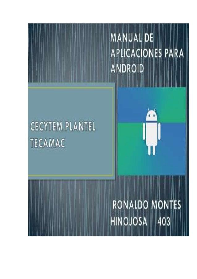 Hola Mundo 1 IMC 3 Factorial 6 Operaciones 8 VideoView 11 CheckBox 13 RadioButton 16 WebView 19 ToggleButton 21 ListView 2...