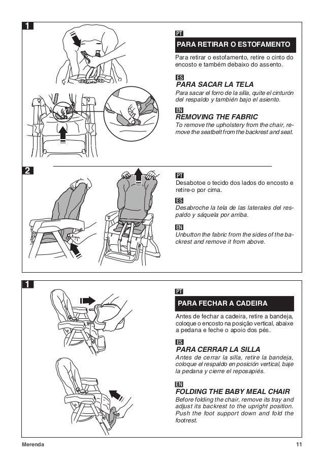 Cadeira Refeição Merenda Branco Burigotto Ref Imsmer