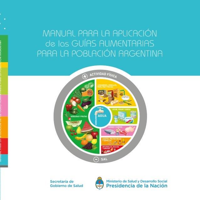 Argentina. Ministerio de Salud de la Nación Manual para la aplicación de las guías alimentarias para la población argentin...
