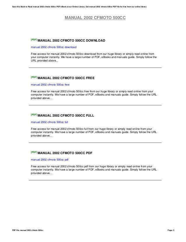 manual 2002 cfmoto 500cc rh slideshare net