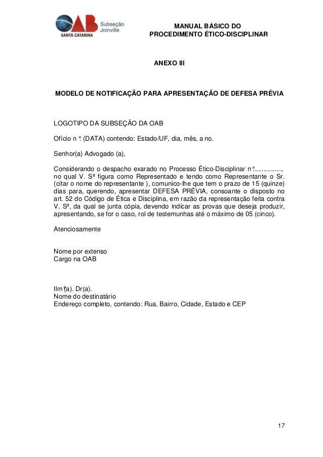 Manual Basico De Procedimentos Etico Disciplinares Revisto