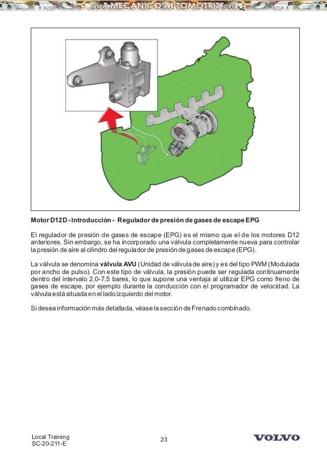 manual camiones volvo motor d12d rh es slideshare net Volvo Engine Parts Volvo D12 Truck Engines