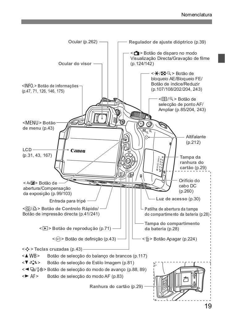 manual canon 600d t3i em portugu s rh pt slideshare net Pics of Canon T3i or 600D Canon Canon Rebel T3i 600D