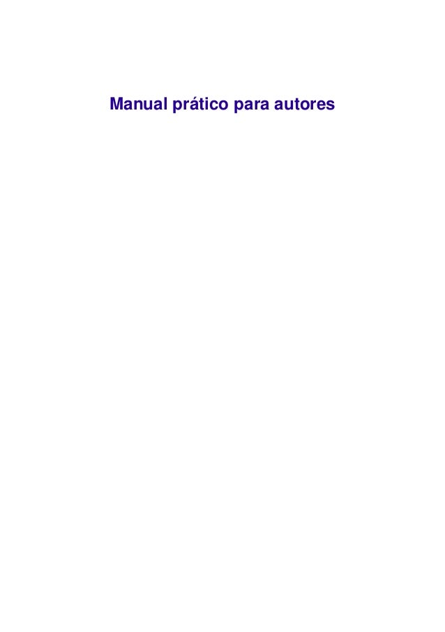 Manual prático para autores