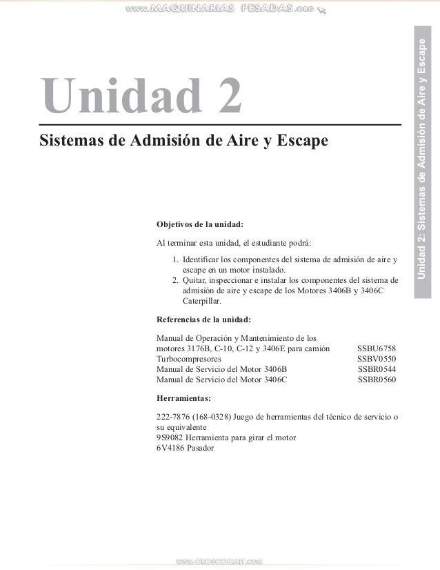 Unidad 2 Sistemas de Admisión de Aire y Escape Unidad2:SistemasdeAdmisióndeAireyEscape Objetivos de la unidad: Al terminar...