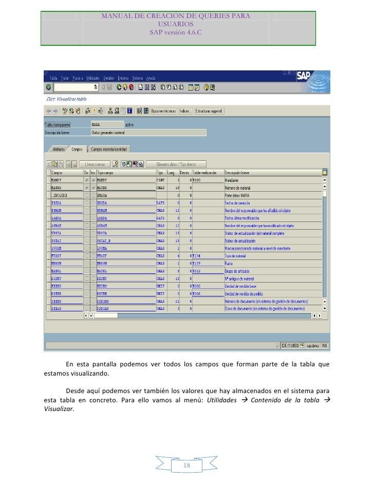 manual creacion queries sap rh es slideshare net manual sistema tress manual de uso sistema sap