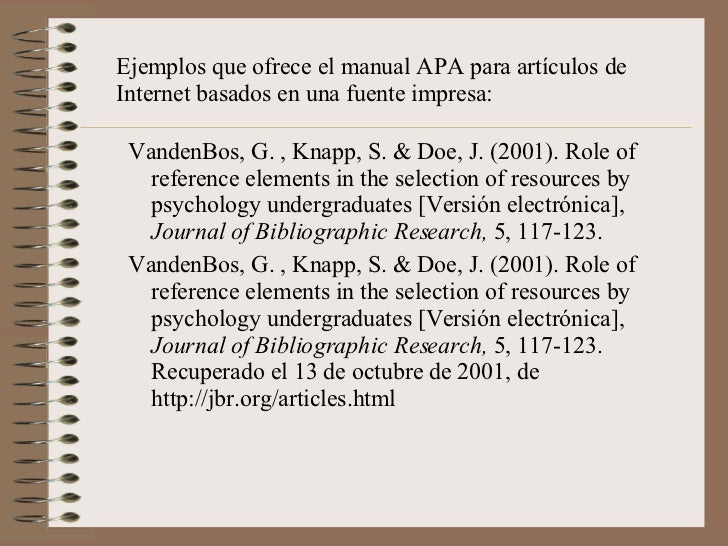 reference university web manual in apa