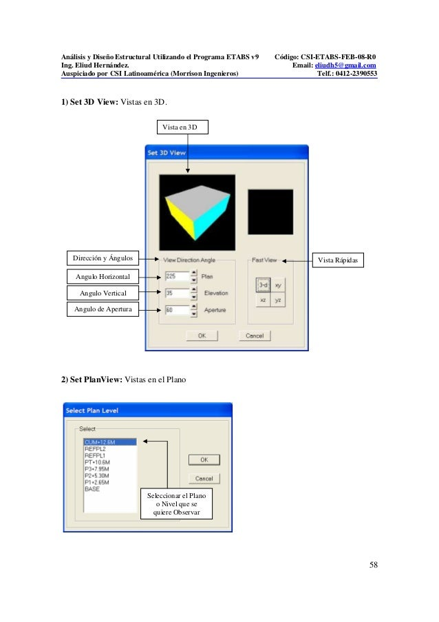 Calculo de derivas en etabs manual