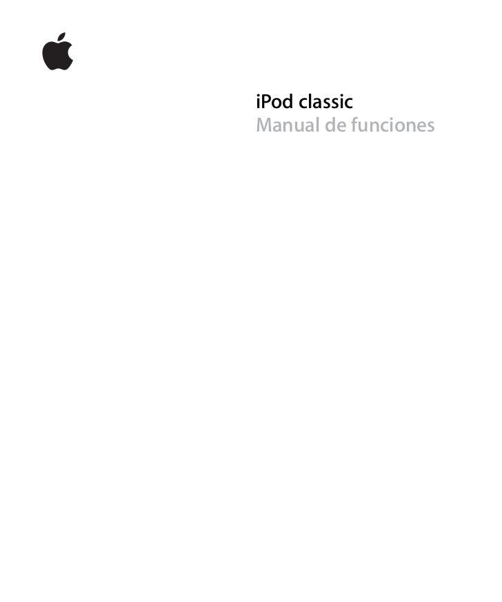 iPod classic Manual de funciones