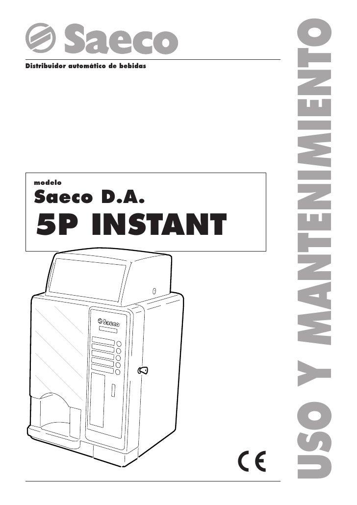 Manual De Maquina Vending Cafe Saeco Dap 5