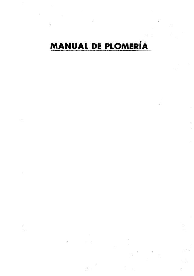 Manual De Plomeria Gratis