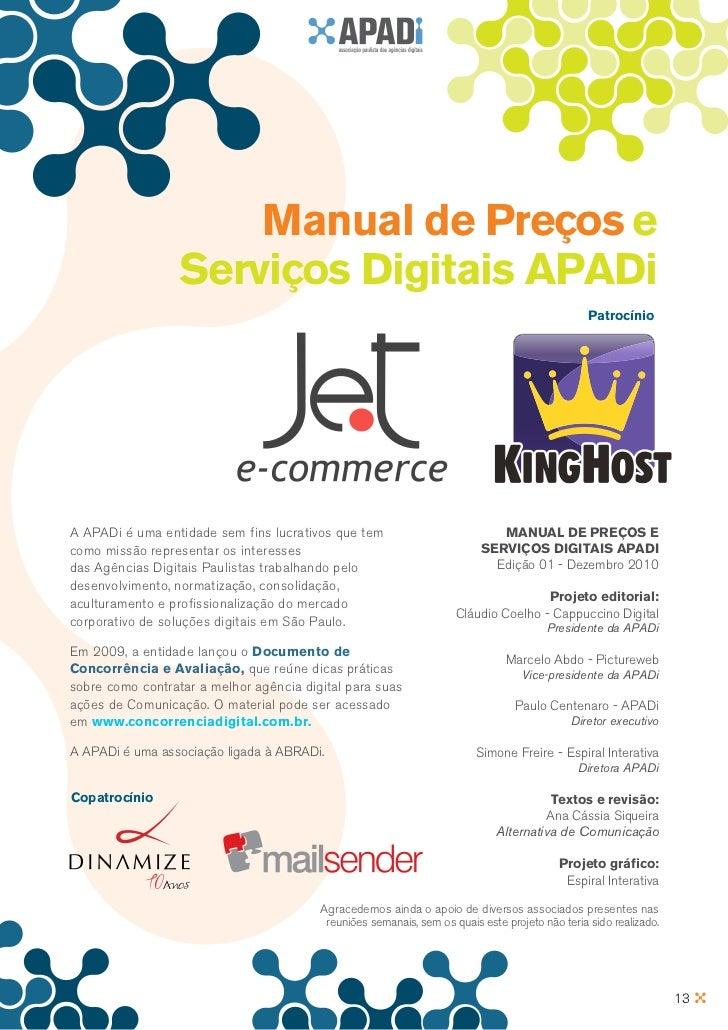 Manual de Preços e                  Serviços Digitais APADi                                                               ...