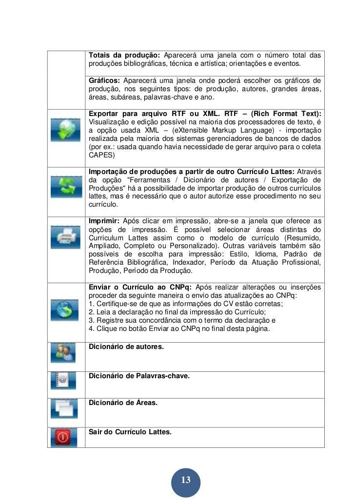 Manual de preenchimento do Currículo Lattes 38352ff60c