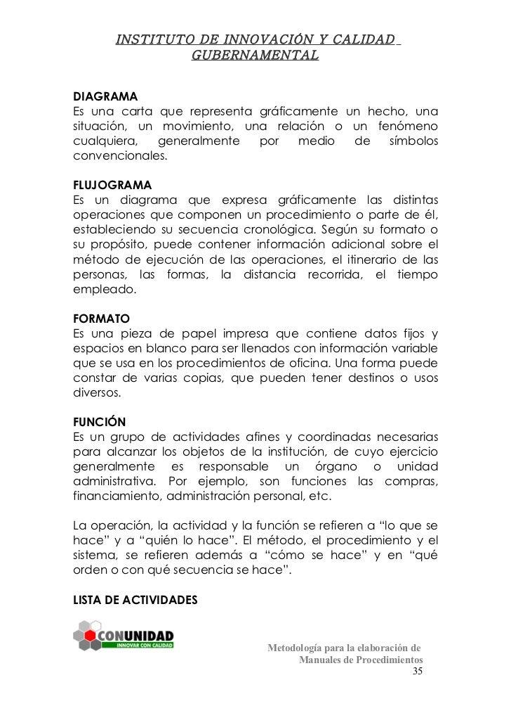 Manual de procedimientos for Oficina administrativa definicion