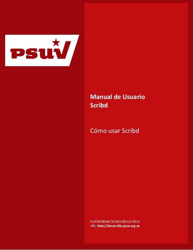 p                      Manual de Usuario                      Scribd                      Cómo usar Scribd                ...