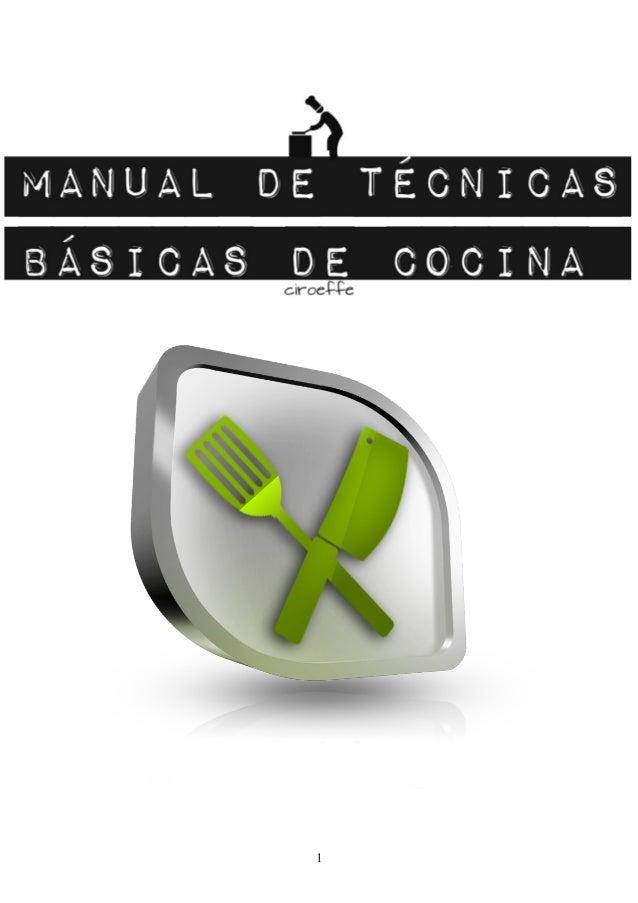 Manual de tecnicas basicas de cocina for Tecnicas culinarias pdf