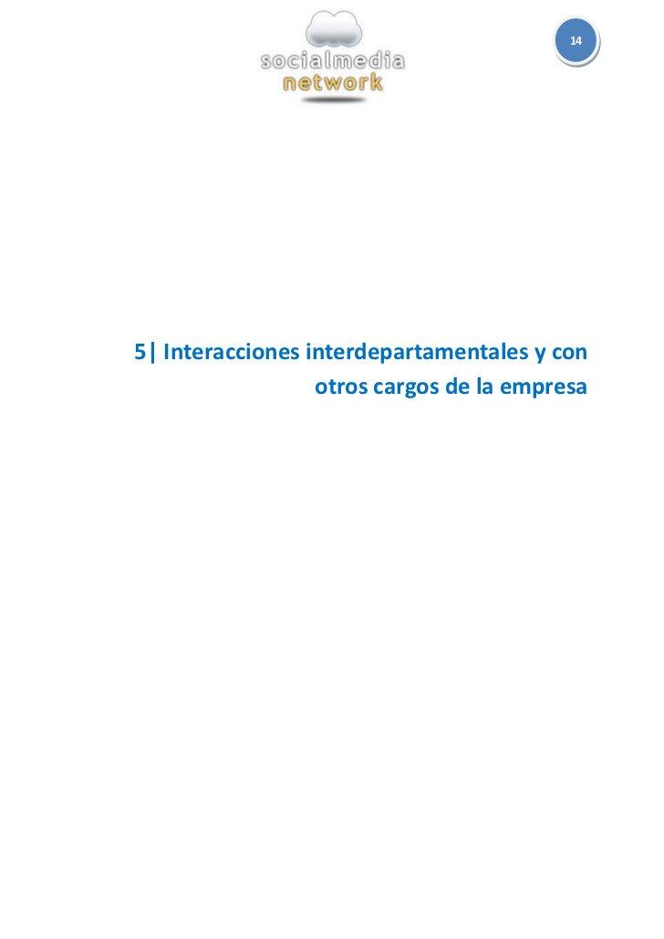 145  Interacciones interdepartamentales y con                  otros cargos de la empresa