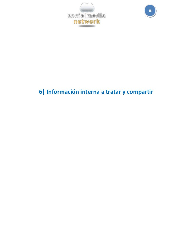 186  Información interna a tratar y compartir