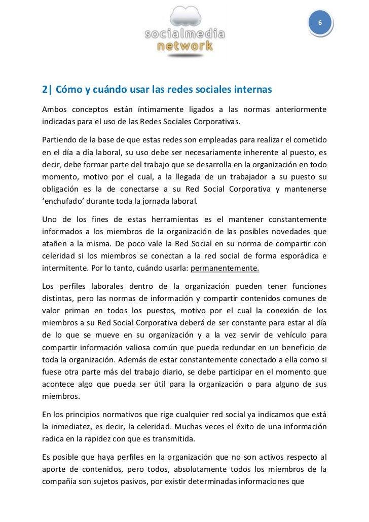 62  Cómo y cuándo usar las redes sociales internasAmbos conceptos están íntimamente ligados a las normas anteriormenteindi...