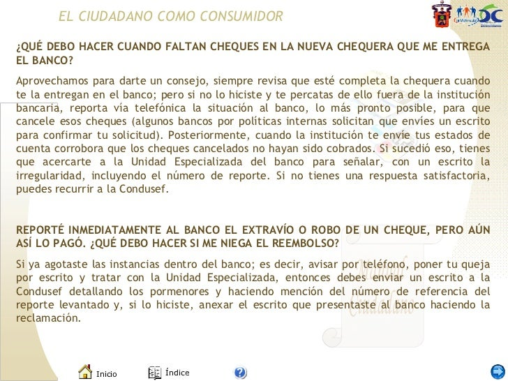 Manual del ciudadano for Solicitud de chequera