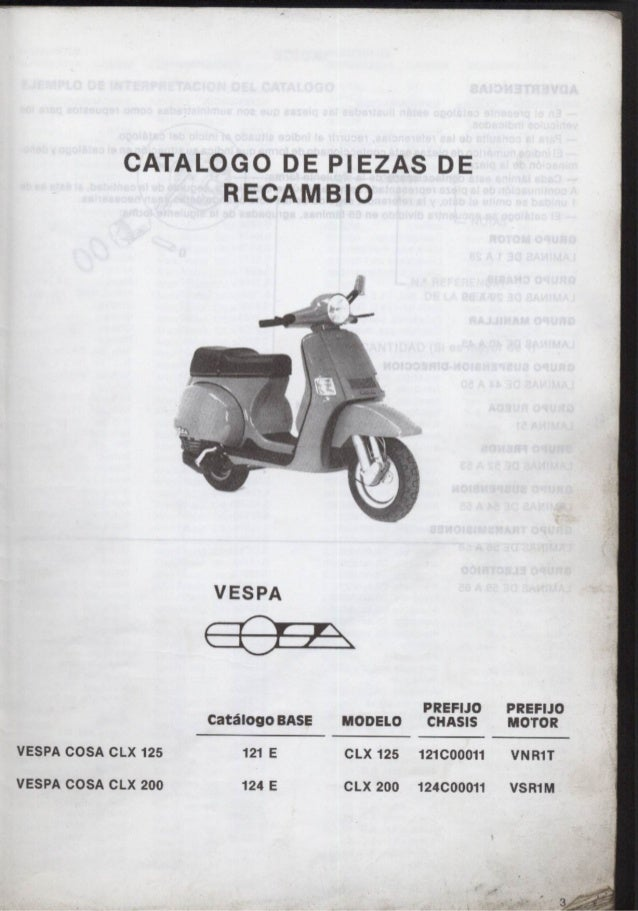 manual despiece vespa cosa rh es slideshare net